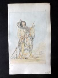 Catlin 1857 HCol North American Indian Print. Native American 15